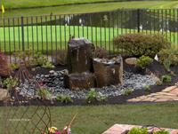 Pondless Water Feature with Pond Liner